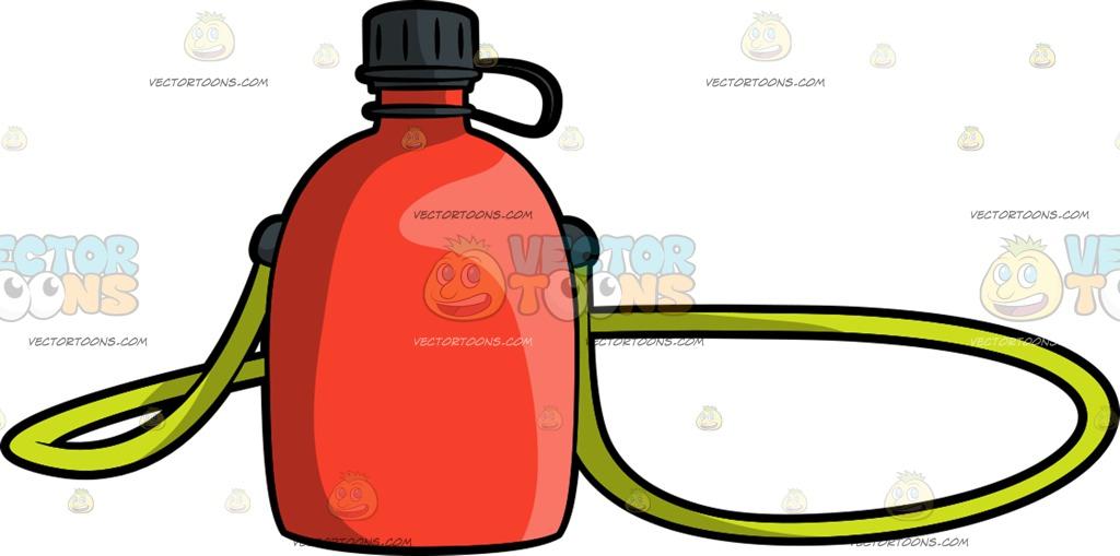 1024x509 Camping Water Flask Cartoon Clipart