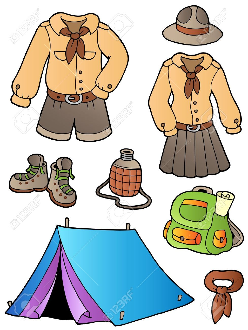 977x1300 Camping Clipart Camping Gear