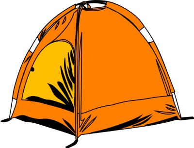 400x305 Cartoon Camping Clipart Kid 5