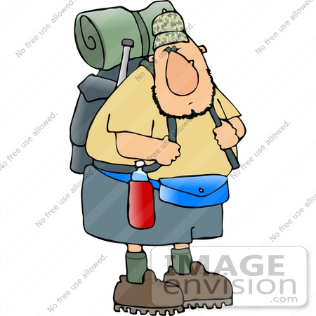 450x450 Hiker Man With Camping Gear Clipart