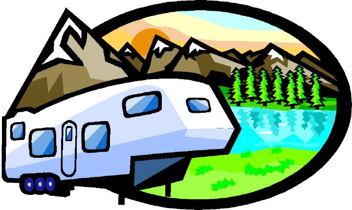 720x430 Wheel Mountain Camping Cartoon