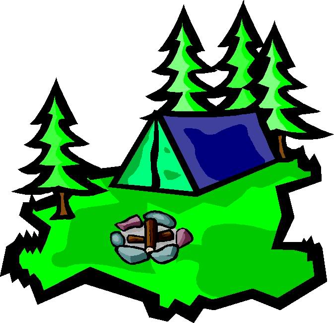 673x650 Family Camping Clipart
