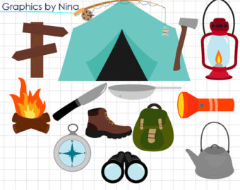 340x270 Camping Clipart Etsy