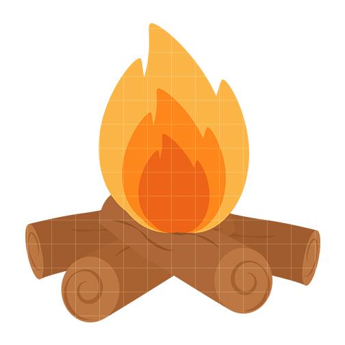 504x504 Clip Art Fire Log Clipart