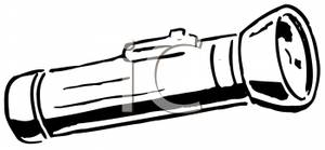 300x139 Flashlight Black And White Clipart