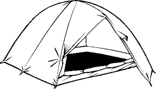 500x288 Free Clip Art Black And White Clipart Of A Tent
