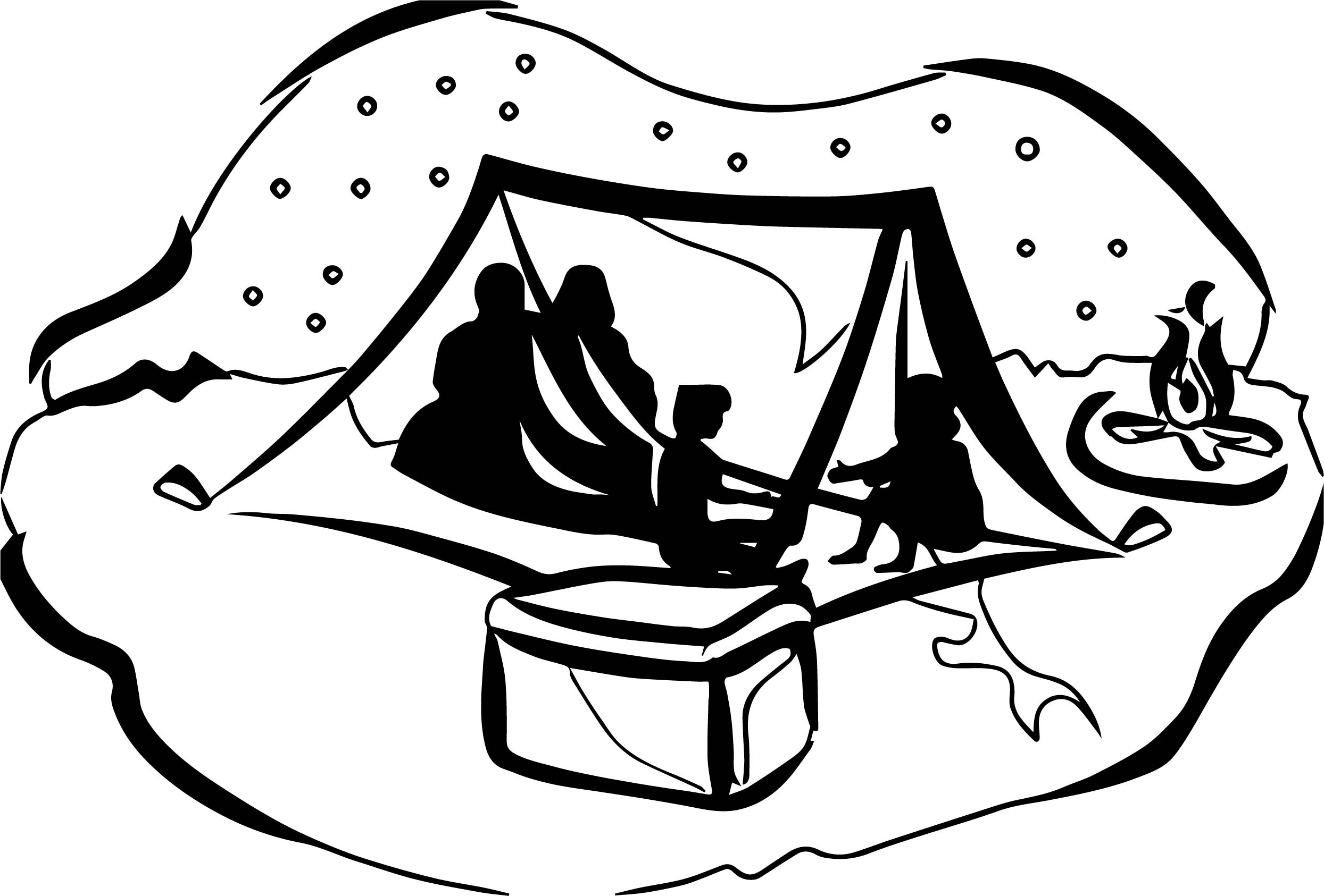 2489x1686 Art King Camping Night Coloring Page Wecoloringpage