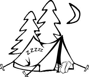 300x260 Sleeping In A Tent Clip Art Free Vector 4vector