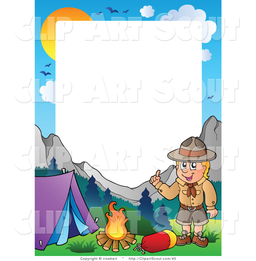 1024x1044 Boy Scout Camping Clipart
