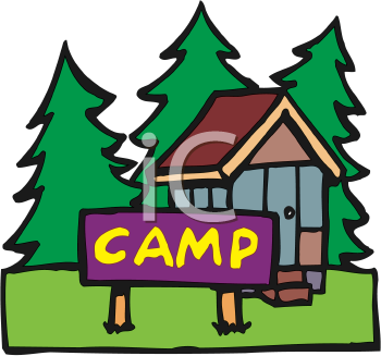 350x327 Cabin Camping Clipart