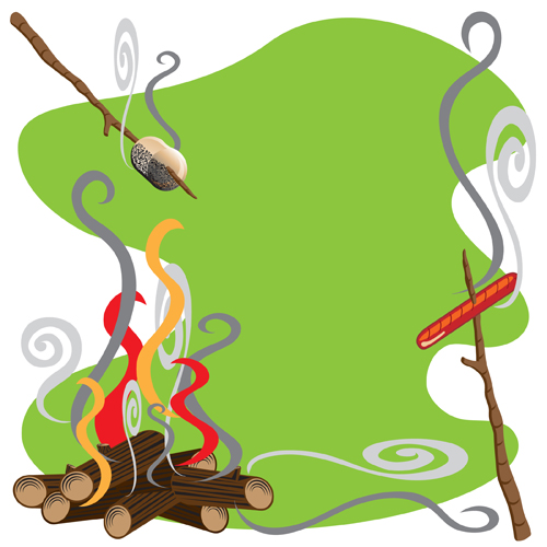 500x500 Camping Background Clipart