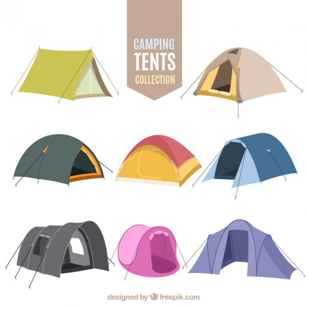 626x626 Hand Drawn Camping Tent Collection Vector Free Download