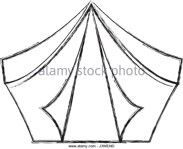 640x523 Camping Tent Isolated Icon Stock Photos Amp