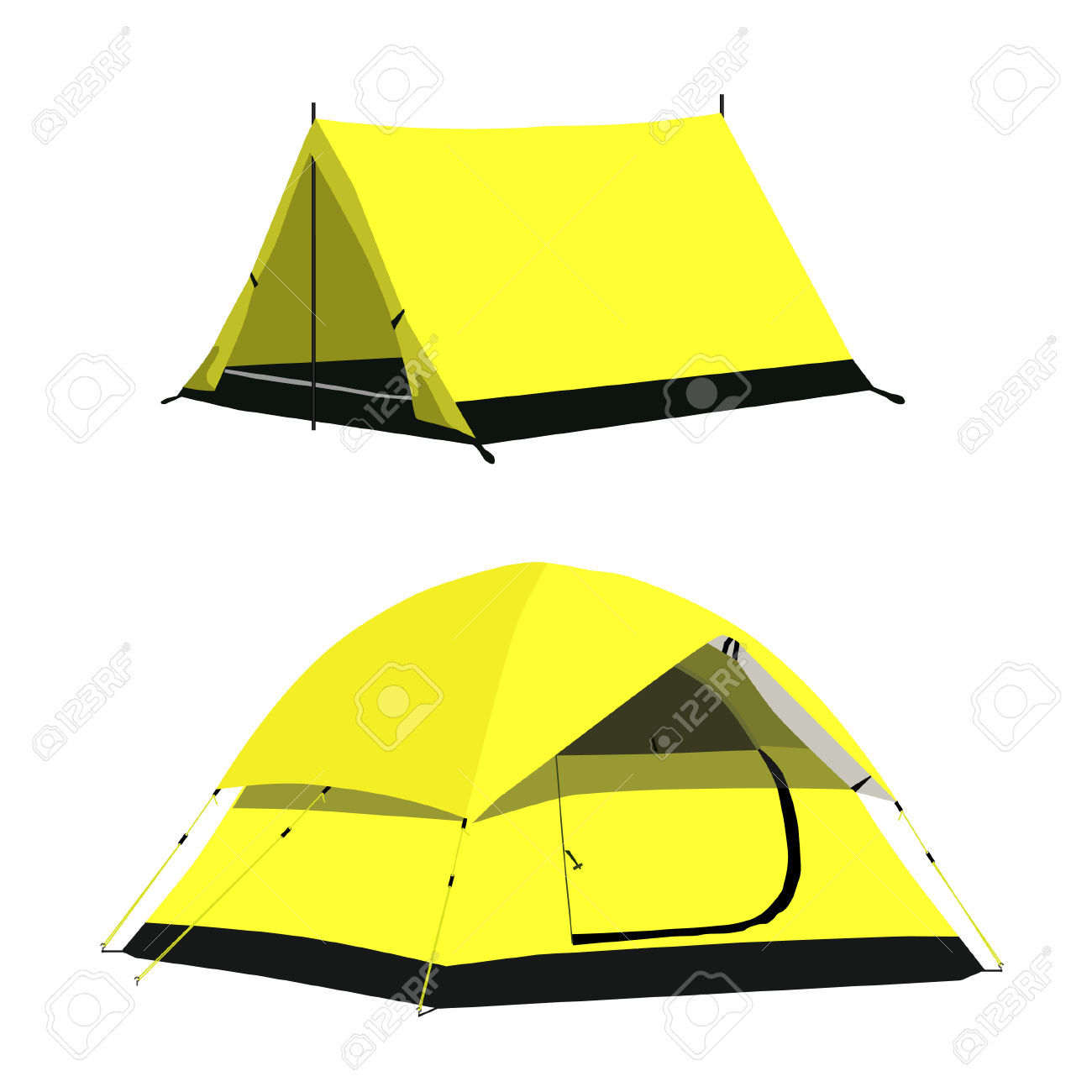1300x1300 Tent Clipart Yellow
