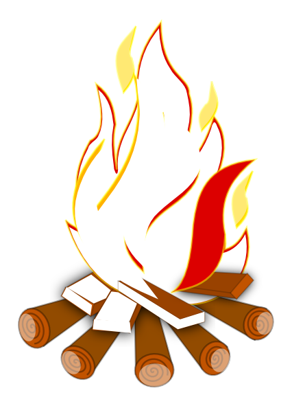 426x591 Camp Fire Clipart Wood Burning