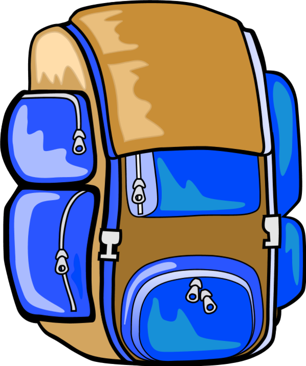 600x717 Hang Up Backpack Clipart