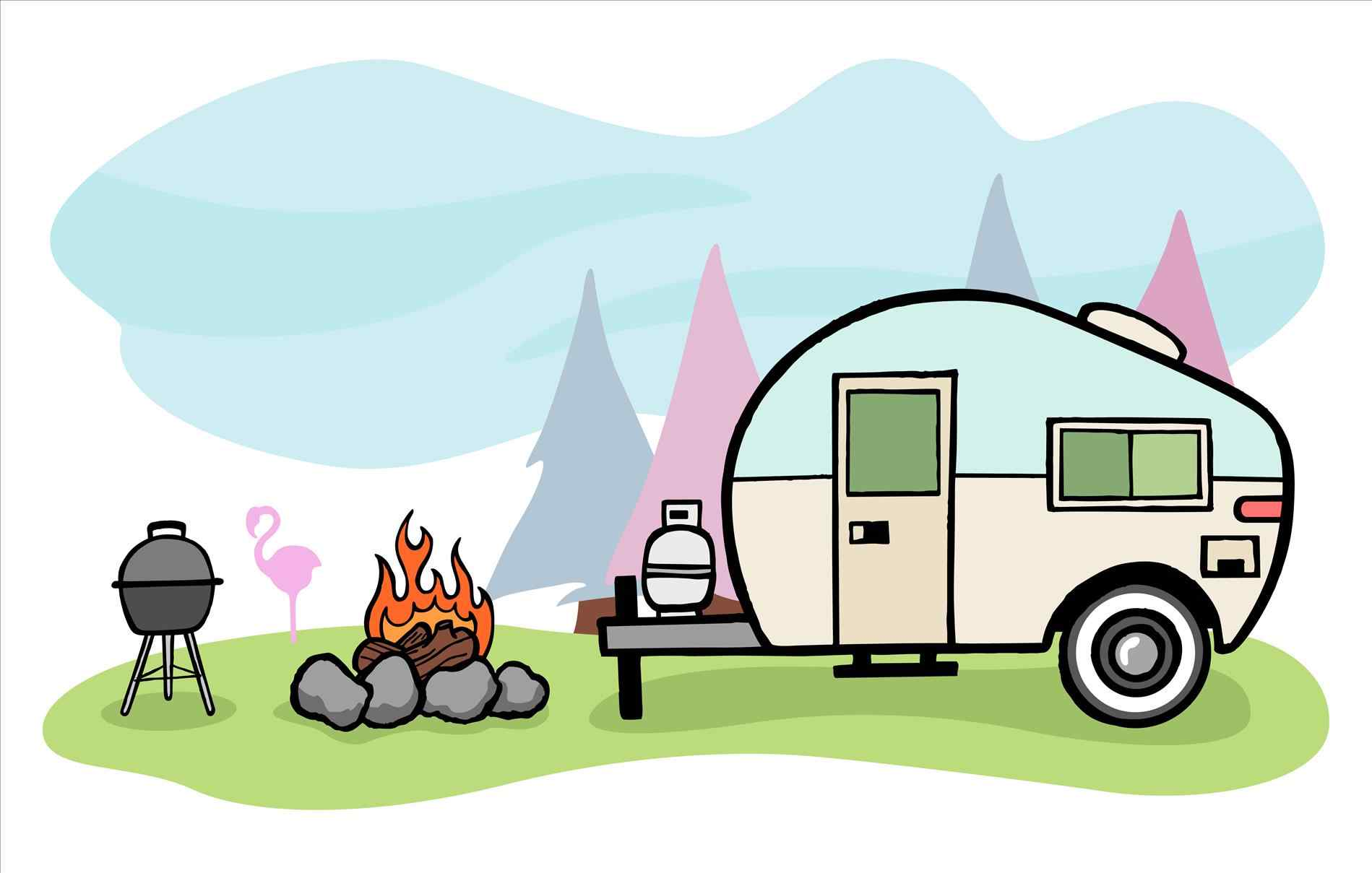 1899x1209 Camping Trailer Clip Art