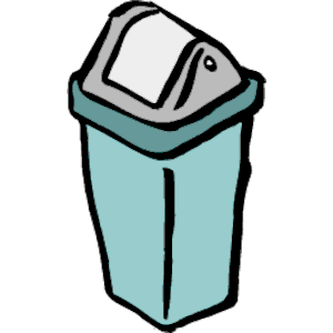 300x300 Trash Can Clipart, Cliparts Of Trash Can Free Download (Wmf, Eps
