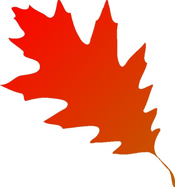 558x597 Autumn Leaf Red Orange Clip Art