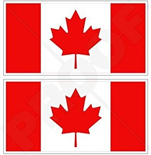 312x320 Round Maple Leaf Sticker (From Canada Canadian Flag), Decals