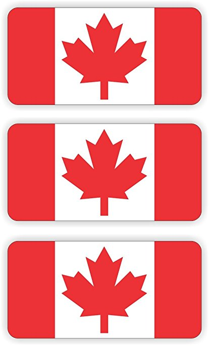 414x686 Canada Flag Hard Hat Sticker Decal Label Tool Lunch Box Helmet