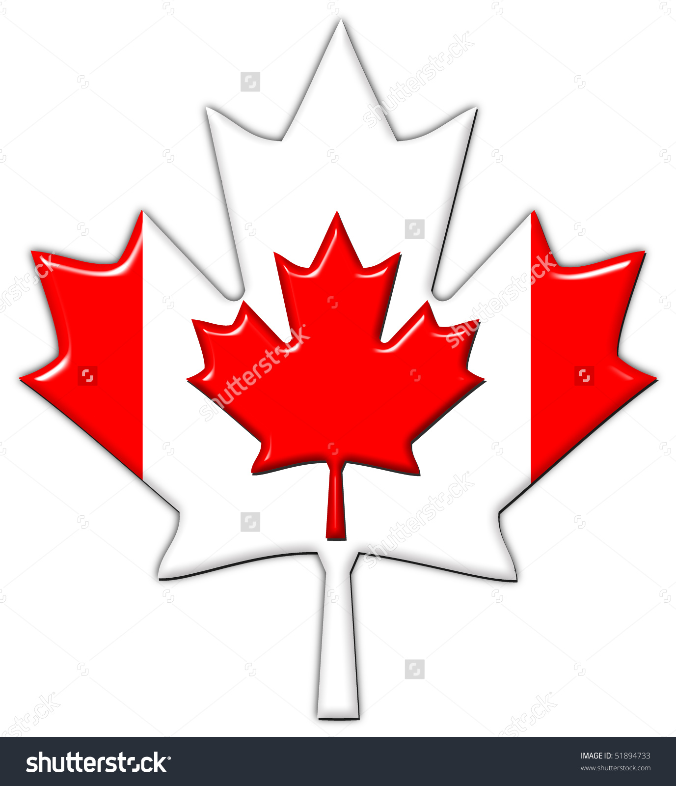 1377x1600 Canada Maple Leaf Outline