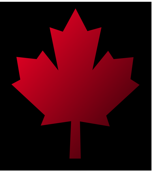 534x598 Canada Maple Leaf Pin Black Background Clip Art