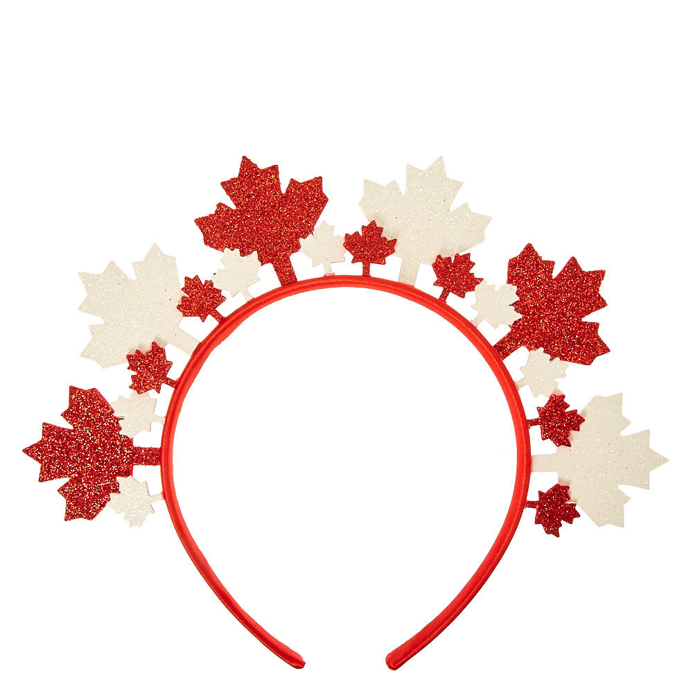 1000x1000 Glittery Canadian Maple Leaf Crown Headband Claire#39s US