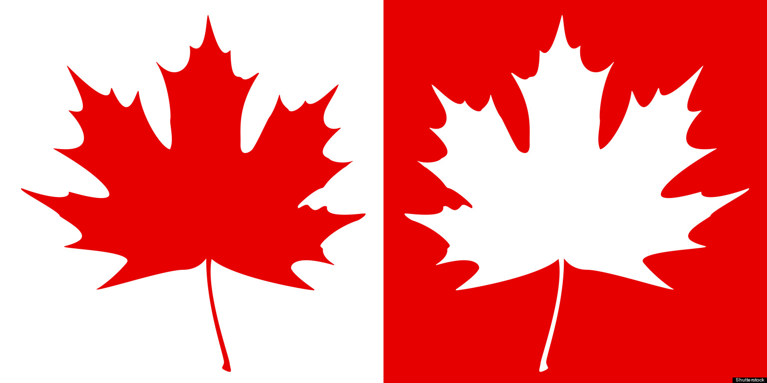 1536x768 Maple Leaf Canada White