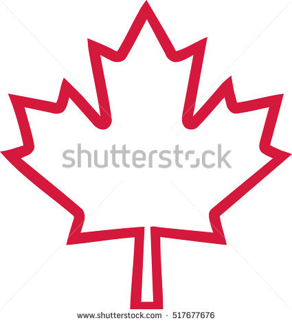 425x470 Maple Leaf clipart vector