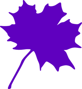 276x299 Purple Leaf Clip Art