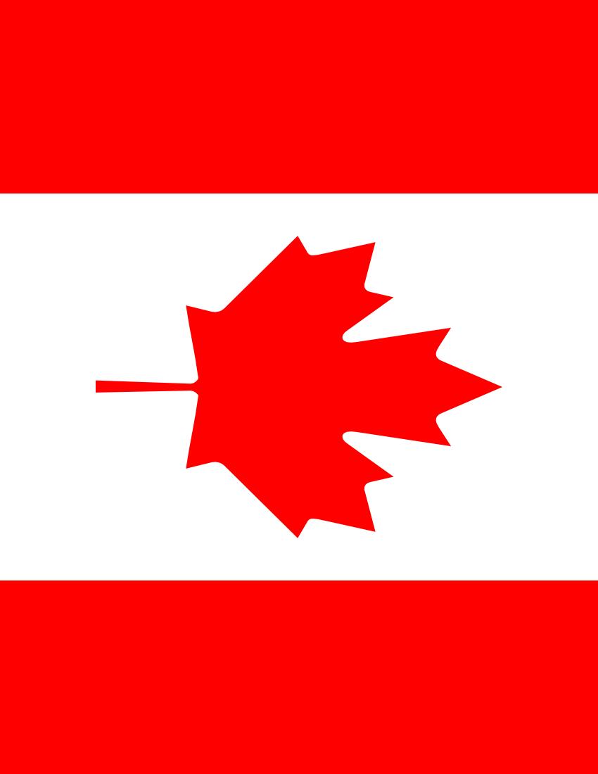 850x1100 Canada Flag Clip Art Download