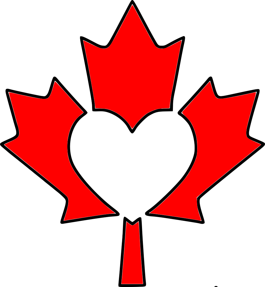 918x993 Canada Maple Leaf Heart Stencil