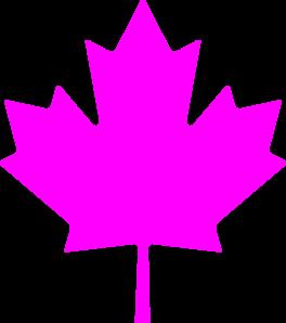 264x298 Canada Pink Leaf Clip Art