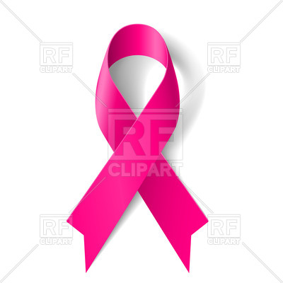 400x400 Breast Cancer Awareness Pink Ribbon On White Background Royalty