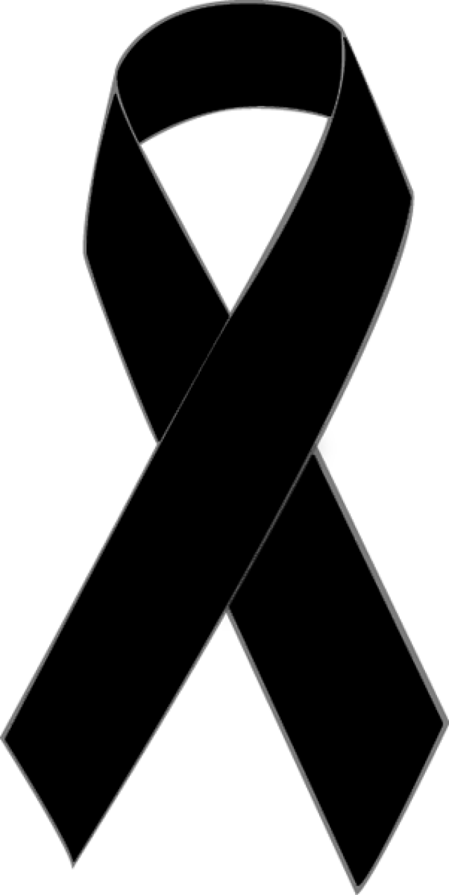 640x1276 Black Awareness Ribbon Clip Art