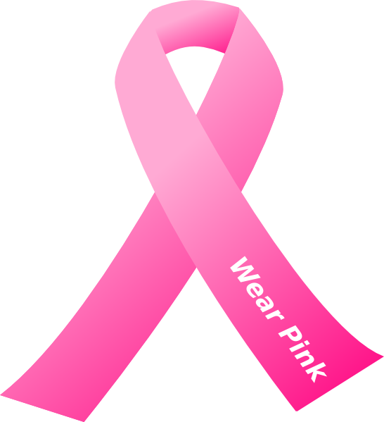 546x599 Breast Cancer Awareness Pink Ribbon Clip Art