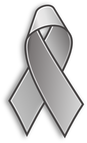 360x592 Grey Cancer Ribbon Clip Art