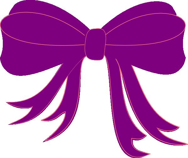 600x504 Purple Ribbon Clip Art