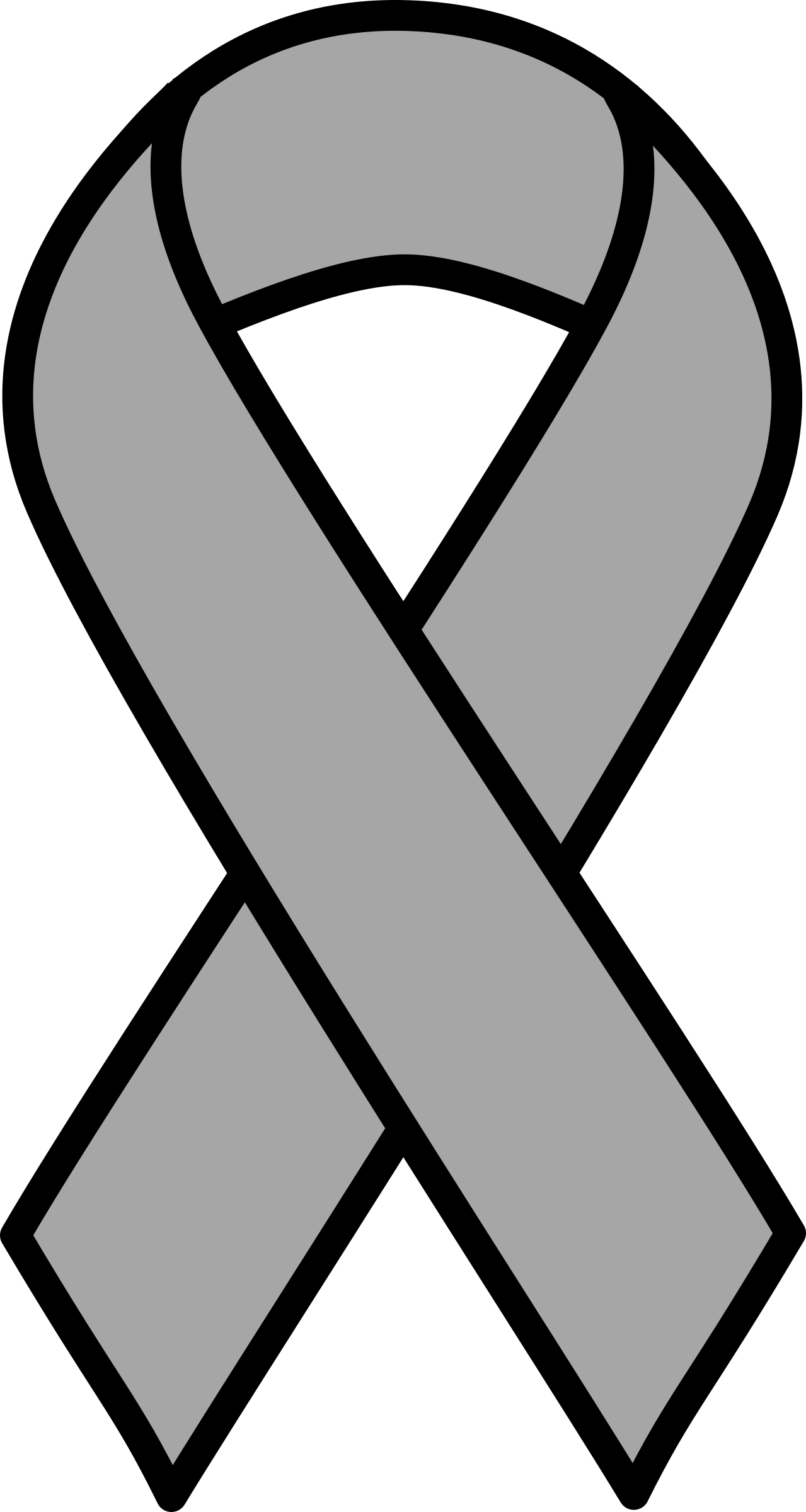 02f2d87bbd5 Cancer Ribbon Clipart Black And White | Free download best Cancer ...