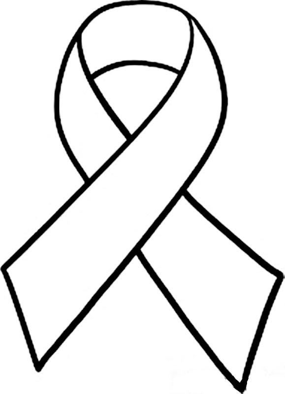 Cancer Ribbon Clipart Black And White Free Download Best Cancer