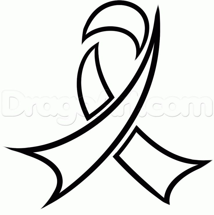 Cancer Ribbon Clipart Black And White | Free download on ...