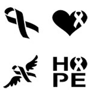 Cancer Ribbon Stencil Free Download Best Cancer Ribbon Stencil On
