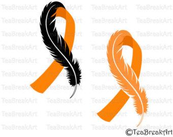 340x270 Feather Ribbon Svg Etsy