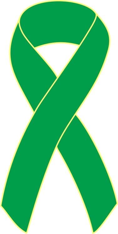 377x748 Green Cancer Ribbon Clipart