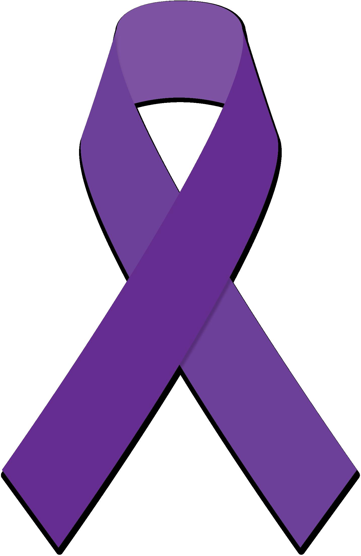 1434x2205 Purple Ribbon Clipart