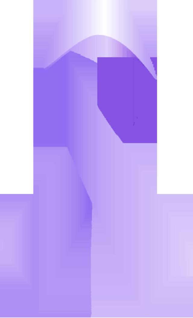 640x1052 Purple Ribbon Clipart