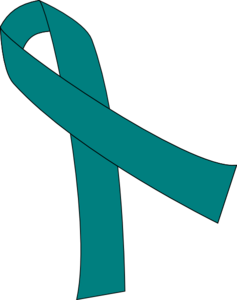 237x300 Teal Cancer Ribbon Clipart