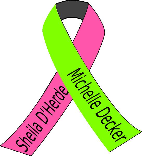 546x599 Breast Lymphoma Cancer Ribbon Clip Art
