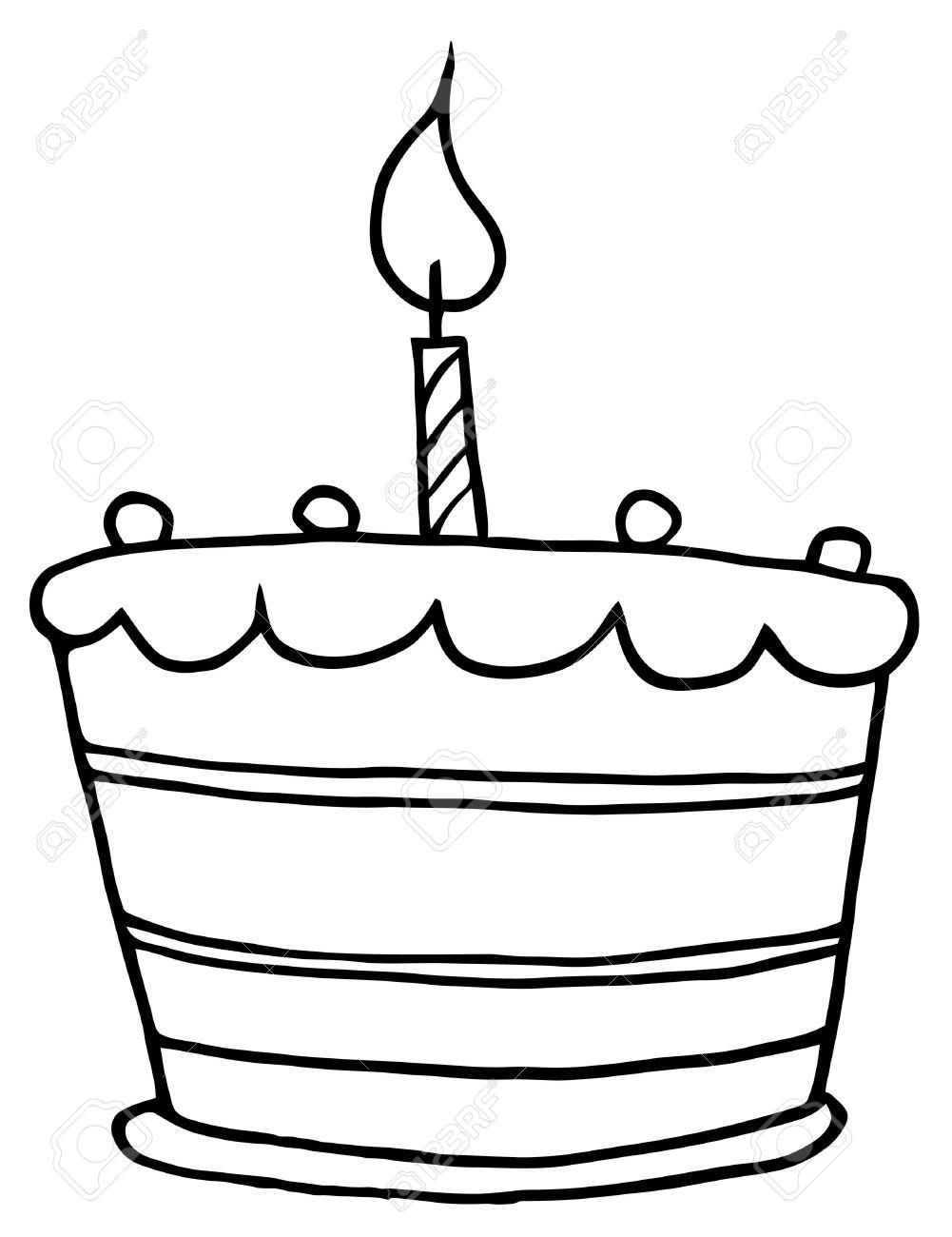 Vistoso Página Para Colorear Torta De Cumpleaños Friso - Dibujos ...